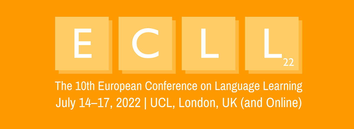 The 10th European Conference on Language Learning (ECLL2021) Logo
